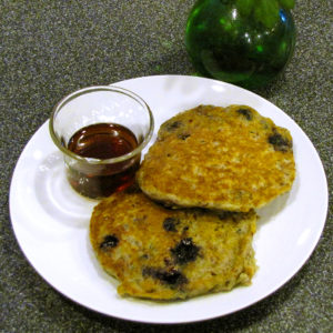 Quinoa and Blueberry Pancake